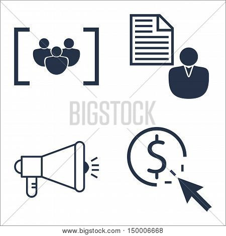 Set Of Seo, Marketing And Advertising Icons On Viral Marketing, Pay Per Click, Client Brief And More