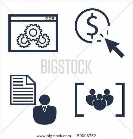 Set Of Seo, Marketing And Advertising Icons On Pay Per Click, Focus Group, Client Brief And More. Pr