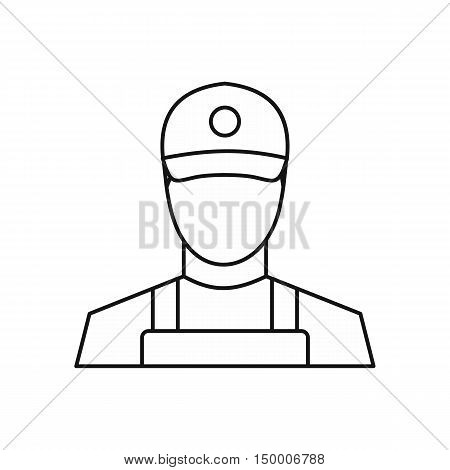 Courier icon in outline style isolated on white background. Job symbol vector illustration