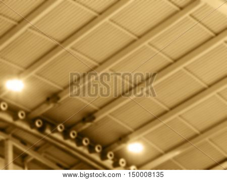 Abstract Blurred Background Modern Design Metal-ceiling In Concert And Sports Complex