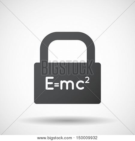 Isolated Lock Pad Icon With The Theory Of Relativity Formula
