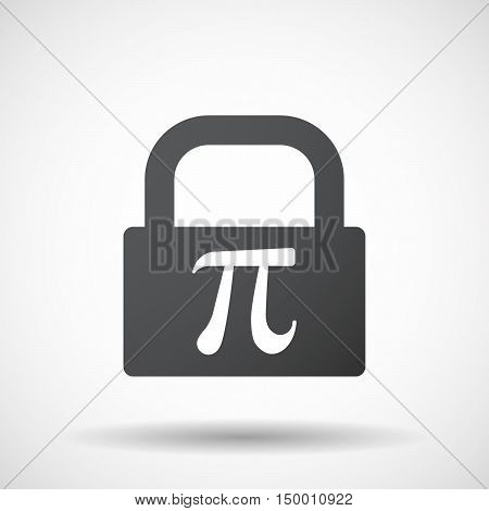 Isolated Lock Pad Icon With The Number Pi Symbol