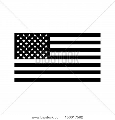 American flag icon in simple style isolated on white background. State symbol vector illustration