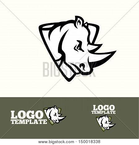 Rhino logo vector concept for sport teams, brands etc