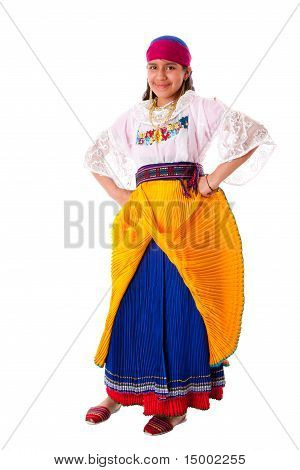Happy Indiginous Latina Girl