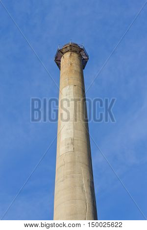 Chimney of a famous old gas power plant in Porto Alegre