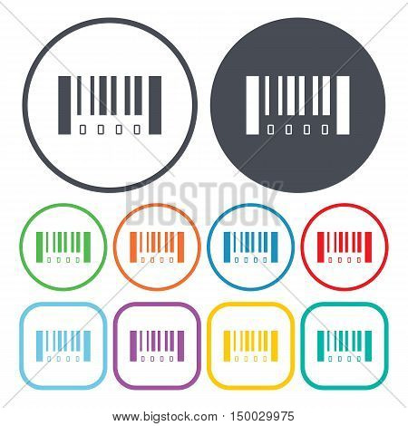 Illustration Of  Bar Code Icon In Pattern Style Isolated On Background. Stock Vector Illustration.