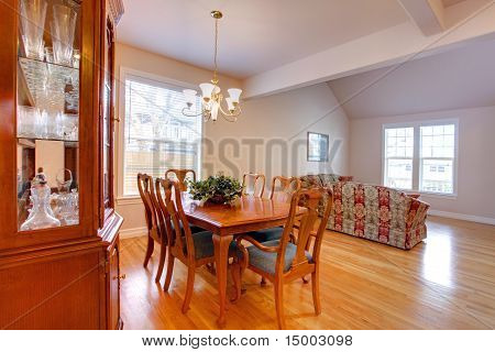Dining Area With Living Room And Open Floor Plan