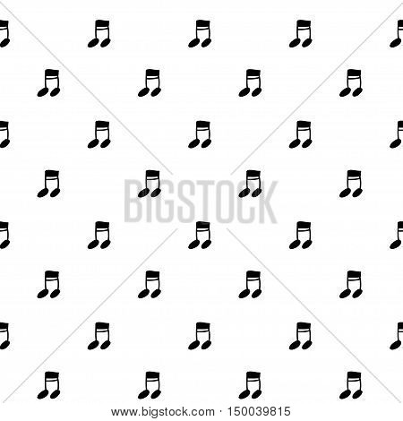 Vector hand drawn cartoon seamless pattern with note. Melody song theme. Black and white note pattern for paper textile polygraphy game web design