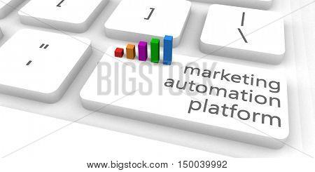 Marketing Automation Platform or MAP as Concept 3D Illustration Render