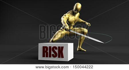 Reduce Risk and Minimize Business Concept 3D Illustration Render
