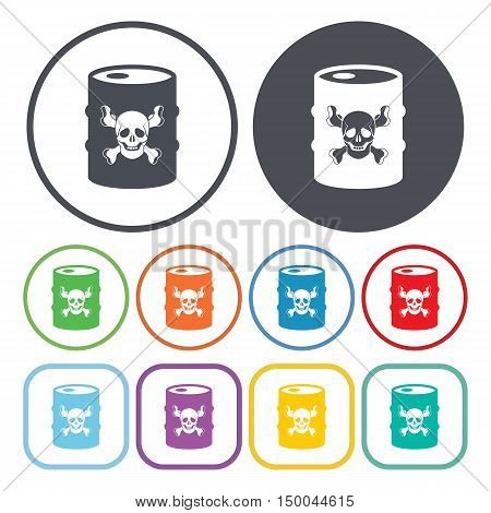 vector illustration of  barrel icon in simple style isolated on background. Stock vector symbol.