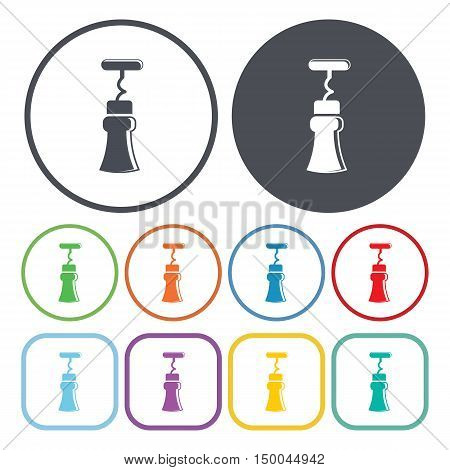 vector illustration of corkscrew icon in simple style isolated on background. Stock vector symbol.