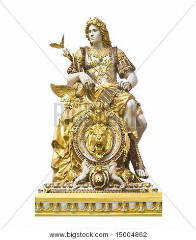 statue roman man isolated
