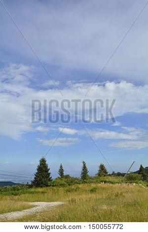 The Piancavallo mountain in Friuli Venezia Giulia north east Italy in early September.