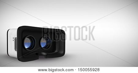 Virtual reality simulator over white background against grey background