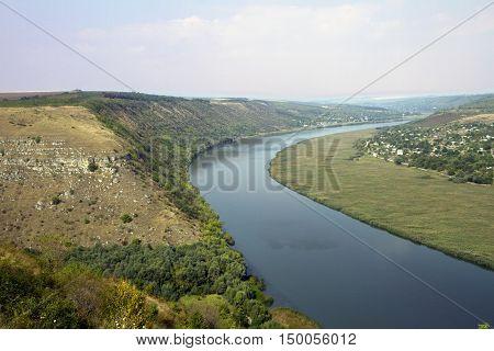 River Nistru near Tipova monastery Moldova republic of
