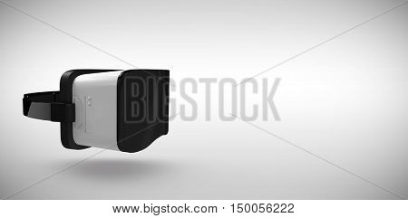 White virtual reality simulator over white background against grey background