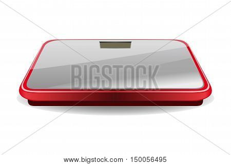 Bathroom digital scale. Vector illustration isolated on white background