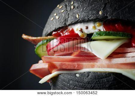 macro Black burger