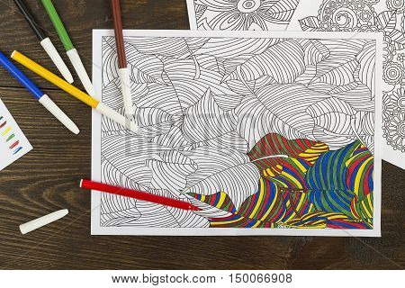 Coloring Book For Relaxation.