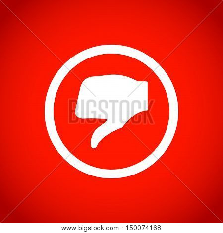 stock vector thumbs down icon vector like icon social network vector icon for app web site etc