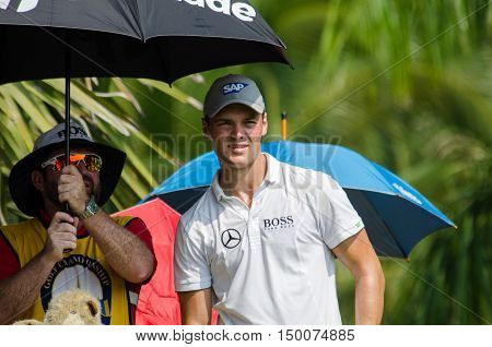 CHONBURI - DECEMBER 13 : Martin Kaymer of Germany player in Thailand Golf Championship 2015 at Amata Spring Country Club on December 13 2015 in Chonburi Thailand.