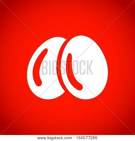 Egg icon  stock vector illustration flat design