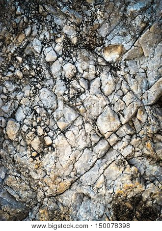 abstract background or texture cracked limestone quartz rock