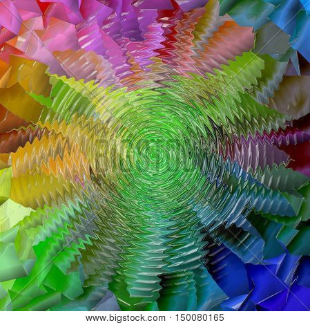 Abstract coloring background of the pastels gradient with visual lighting, mosaic,pinch,zigzag and plastic wrap  effects.Good for your project design