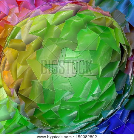 Abstract coloring background of the pastels gradient with visual lighting, mosaic,spherize and plastic wrap effects.Good for your project design