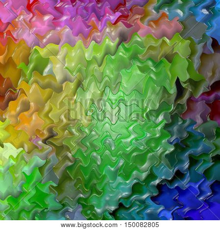 Abstract coloring background of the pastels gradient with visual lighting, wave and plastic wrap effects.Good for your project design