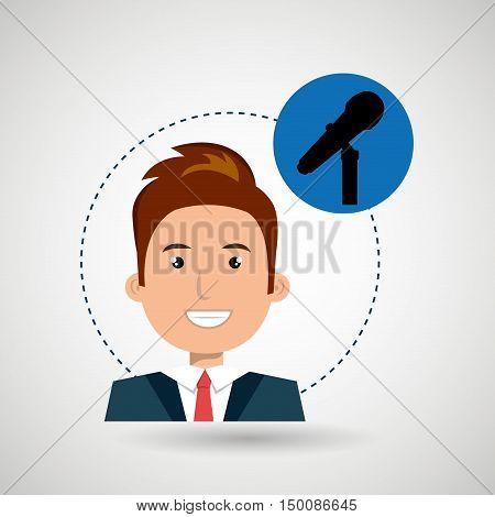 man microphone audio speaker vector illustration eps 10