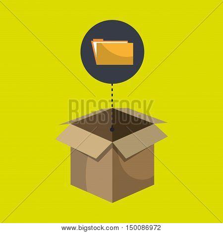 box folder files organize vector illustration eps 10
