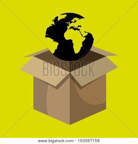 box global globe vector illustration eps 10
