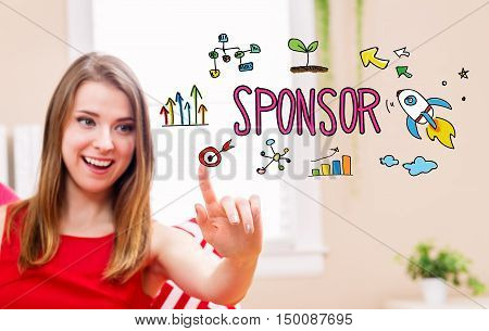 Sponsor Concept With Young Woman