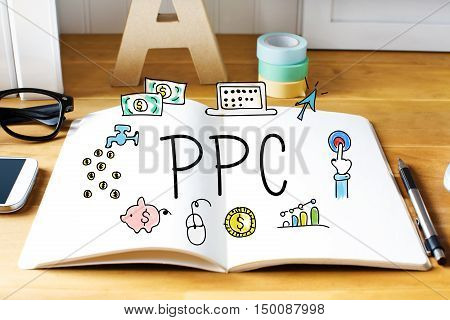 Ppc Concept With Notebook