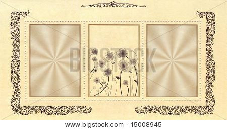 Flower Vintage Decorative Paper