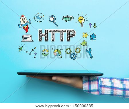 Http Concept With A Tablet