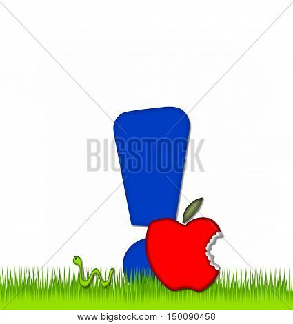 Alphabet Apple A Day Eaten Away Exclamation