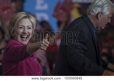 16 August 2016 - PhiladelphiaUSA - Hillary Clinton Democratic Presidential Candidate holds voter registration in Philadelphia.