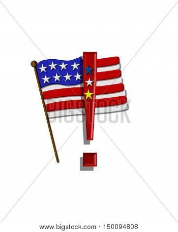 Alphabet Stars And Stripes Exclamation