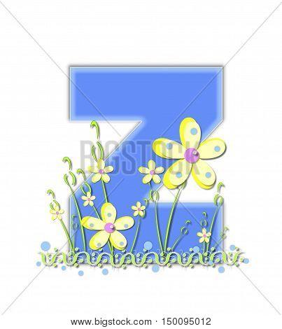 Alphabet Yellow Daisies Z