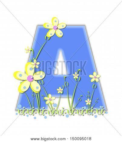 Alphabet Yellow Daisies A