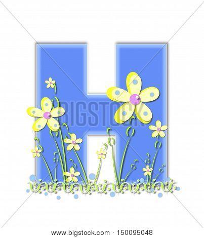 Alphabet Yellow Daisies H