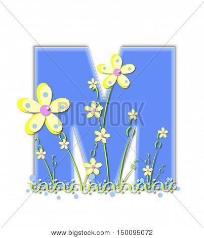 Alphabet Yellow Daisies M