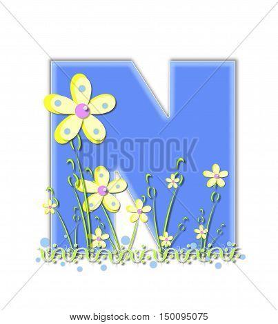 Alphabet Yellow Daisies N