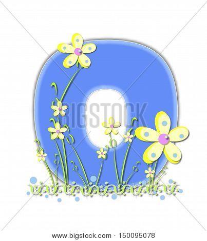 Alphabet Yellow Daisies O