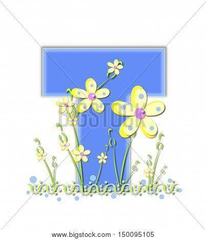 Alphabet Yellow Daisies T