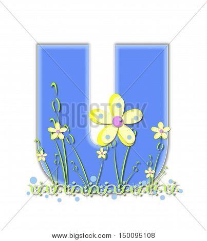 Alphabet Yellow Daisies U